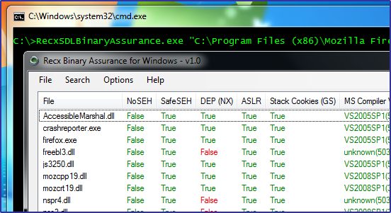 Recx Binary Assurance for Windows